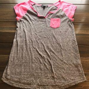 Women's Maternity Grey/Pink T-Shirt Size Lg